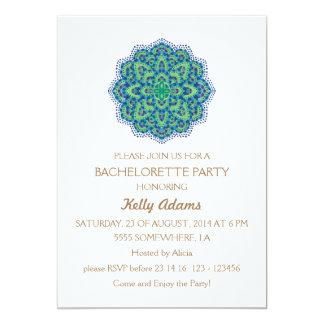 The Mandala-Cool Emerald 5x7 Paper Invitation Card