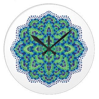 The Mandala-Cool Emerald Wall Clock
