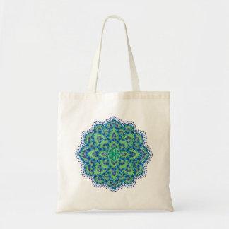 The Mandala-Cool Emerald Tote Bag