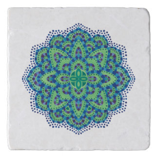 The Mandala-Cool Emerald Trivet