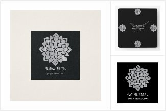 THE MANDALAS business cards and office decor