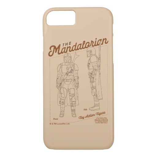 The Mandalorian Action Figure Diagram iPhone 8/7 Case
