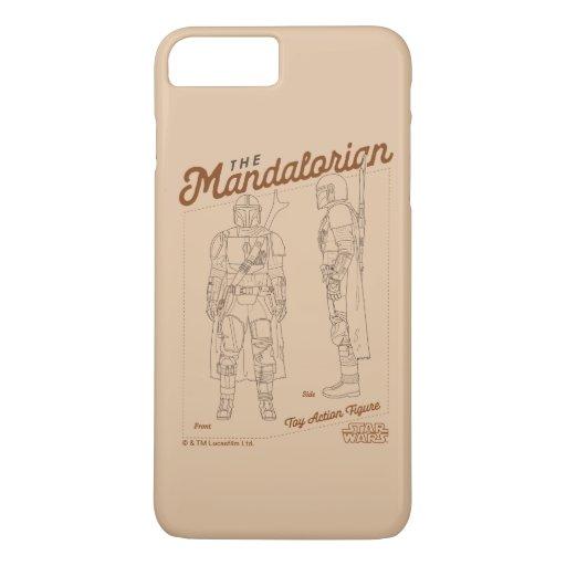 The Mandalorian Action Figure Diagram iPhone 8 Plus/7 Plus Case