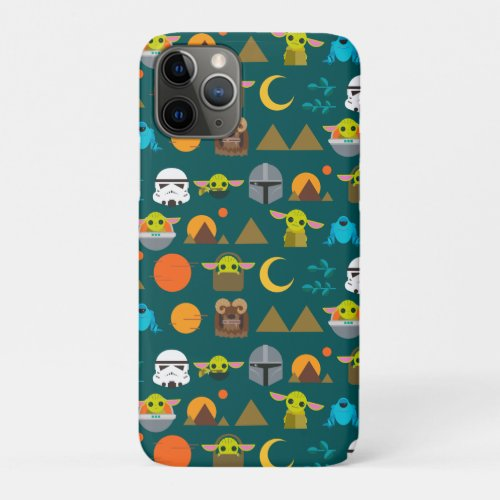 The Mandalorian and The Child Cute Travel Pattern Phone Case