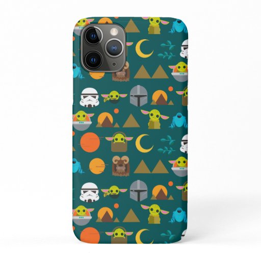 The Mandalorian and The Child Cute Travel Pattern iPhone 11 Pro Case