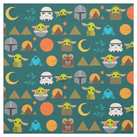 The Mandalorian and The Child Cute Travel Pattern Fabric