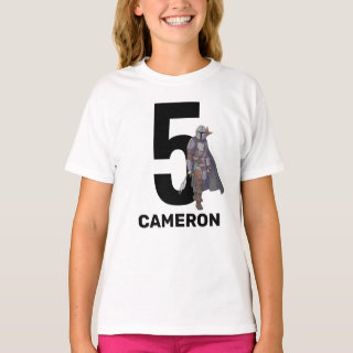 The Mandalorian Birthday | Name & Age T-Shirt