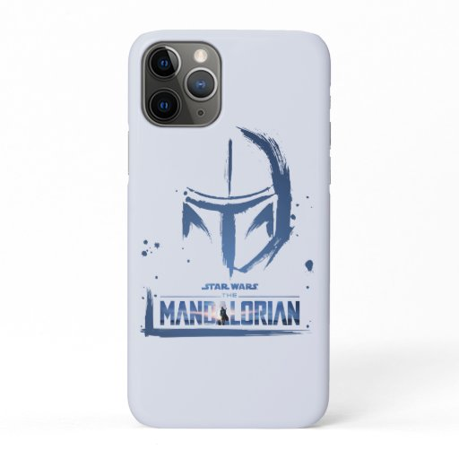 The Mandalorian Brush Stroke Helmet Logo iPhone 11 Pro Case