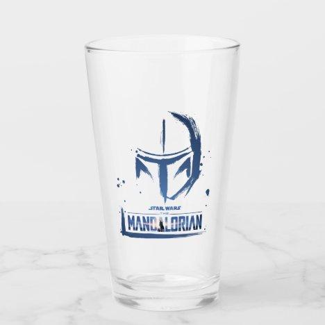 The Mandalorian Brush Stroke Helmet Logo Glass