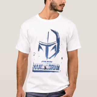 The Mandalorian Brush Stroke Helmet Logo T-Shirt