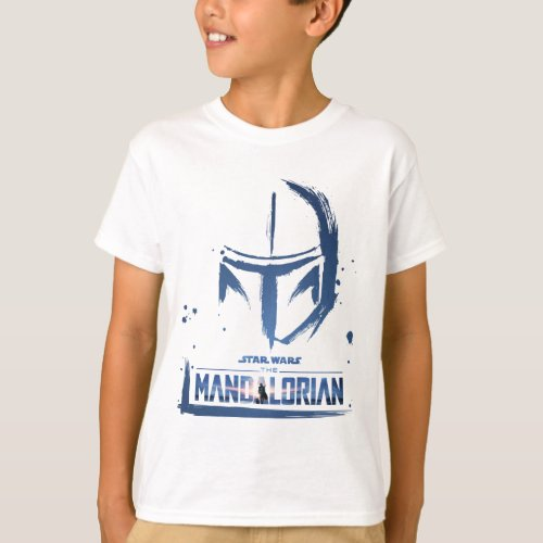 The Mandalorian Brush Stroke Helmet Logo T_Shirt