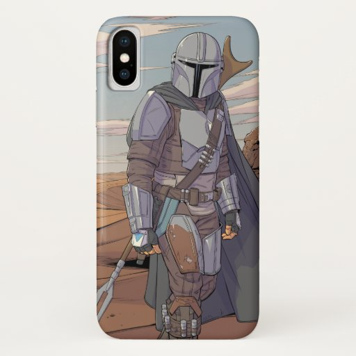 The Mandalorian Character Art iPhone X Case