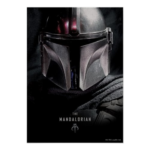 The Mandalorian Emerging From Shadows Poster