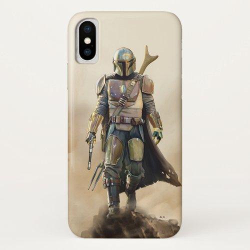 The Mandalorian   Fierce Warrior Poster iPhone X Case
