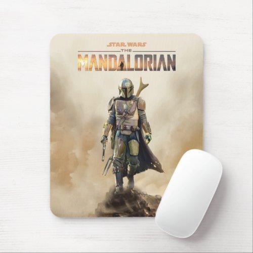 The Mandalorian   Fierce Warrior Poster Mouse Pad