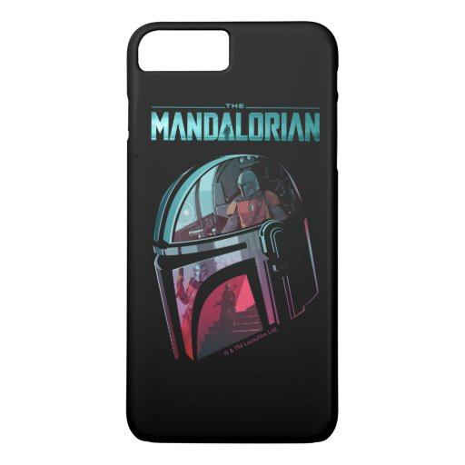 The Mandalorian Helmet Reflections Collage iPhone 8 Plus/7 Plus Case