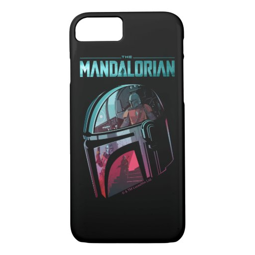 The Mandalorian Helmet Reflections Collage iPhone 8/7 Case