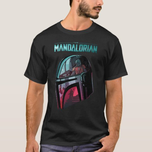 The Mandalorian Helmet Reflections Collage T_Shirt