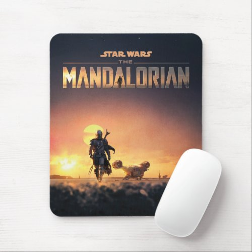 The Mandalorian   Man of Mystery Poster Mouse Pad
