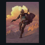 "The Mandalorian Runs With Child Concept Painting Poster<br><div class=""desc"">The threat posed by the Darksaber-wielding Moff Gideon and his forces has not yet passed, but you have stumbled across a rare sanctuary of calm in the chaotic Outer Rim. Welcome, weary traveler, to Zazzle's official store for The Mandalorian Season 2! Here, you can peacefully peruse a variety of cool...</div>"