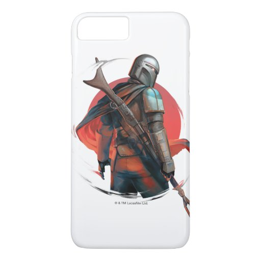 The Mandalorian Stylized Character Art iPhone 8 Plus/7 Plus Case