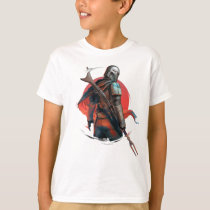 The Mandalorian Stylized Character Art T-Shirt