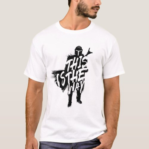 The Mandalorian  This Is The Way Ink Silhouette T_Shirt