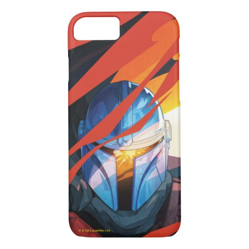 The Mandalorian Through Red Flames iPhone 8/7 Case