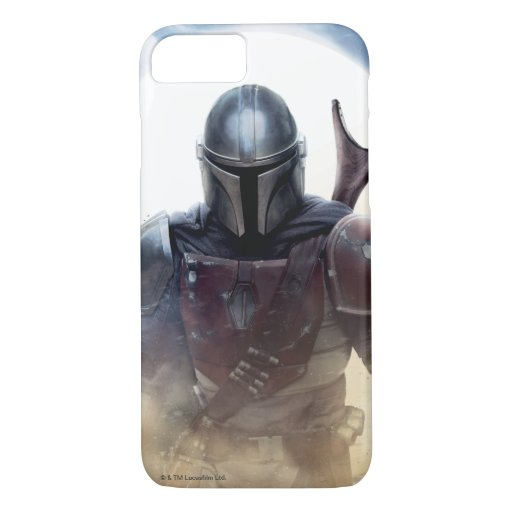 The Mandalorian Walking Through Desert Dust iPhone 8/7 Case