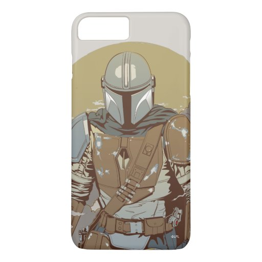 The Mandalorian Walking Through Smoke iPhone 8 Plus/7 Plus Case
