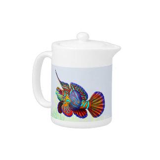 The Mandarin Dragonet Goby Reef Fish Teapot
