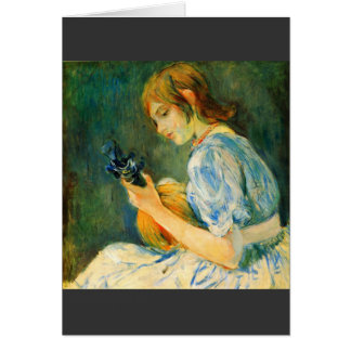 The Mandolin by Berthe Morisot Cards