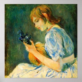 The Mandolin by Berthe Morisot Poster