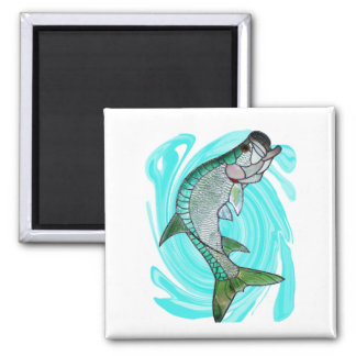 THE MANGROVE KING 2 INCH SQUARE MAGNET