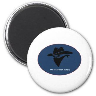 The Manhattan Bandit Logo 2 Inch Round Magnet