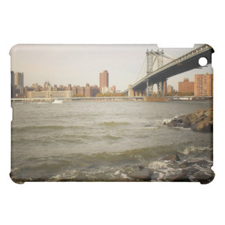 The Manhattan Bridge, A Riverfront View iPad Mini Covers