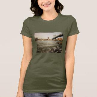 The Manhattan Bridge, A Riverfront View T-Shirt