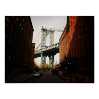 The Manhattan Bridge A Street View Medium Posters