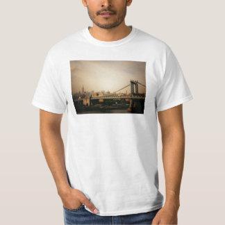 The Manhattan Bridge at Sunset, NYC T-Shirt