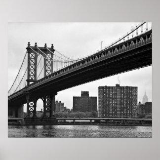 The Manhattan Bridge in New York City Posters