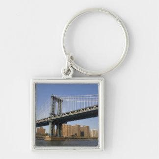 The Manhattan Bridge spanning the East River 2 Key Chains