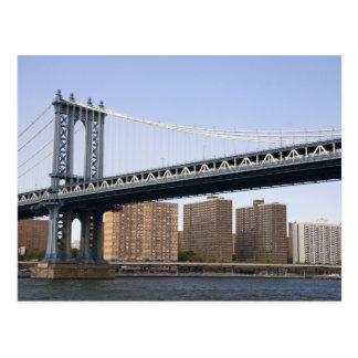 The Manhattan Bridge spanning the East River Postcard