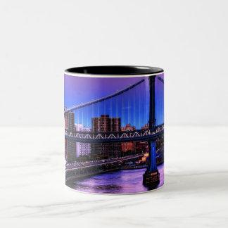 The Manhattan Bridge Two-Tone Coffee Mug