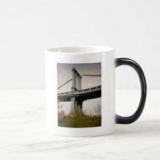 The Manhattan Bridge, View from Brooklyn Magic Mug