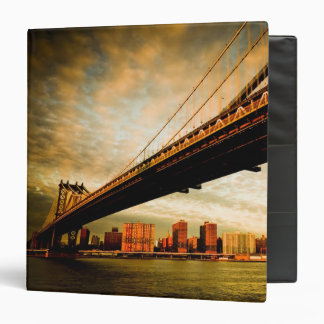 The Manhattan bridge view from Brooklyn side (NYC) 3 Ring Binder