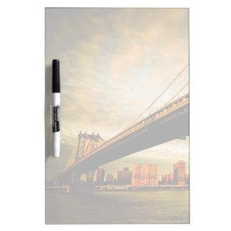 The Manhattan bridge view from Brooklyn side (NYC) Dry Erase Board