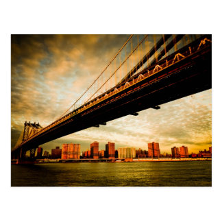 The Manhattan bridge view from Brooklyn side (NYC) Postcard