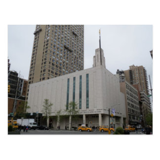 The Manhattan New York LDS Temple Postcard