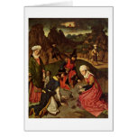 The Manna Harvest By Bouts Dieric Greeting Cards