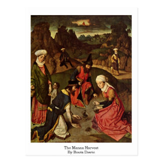 The Manna Harvest By Bouts Dieric Postcard